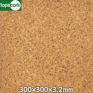 東亜コルク コルクタイル 強化ウレタン仕上 ナチュラルカラー ライト(光沢有り)300×300×3.2mm