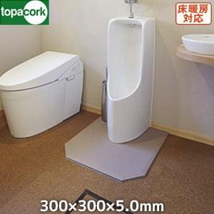 東亜コルク コルクタイル 強化ウレタン仕上 ナチュラルカラー ブラウン 300×300×5mm