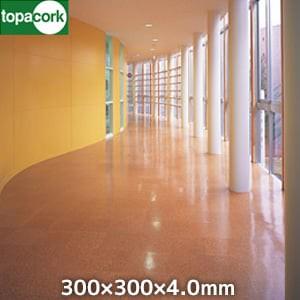 東亜コルク コルクタイル 強化ウレタン仕上 ナチュラルカラー ライト 300×300×4mm