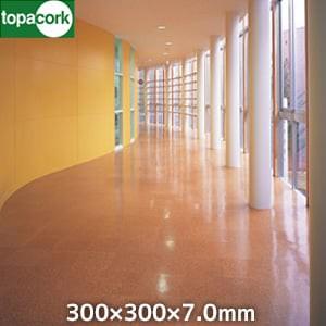 東亜コルク コルクタイル 強化ウレタン仕上 ナチュラルカラー ライト 300×300×7mm