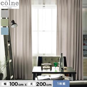 ウォッシャブル&天然素材のナチュラルな風合いが魅力! スミノエ 既製カーテン colne(コルネ) ピンヘッド 幅100×丈200cm