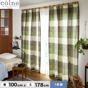 ウォッシャブル&天然素材のナチュラルな風合いが魅力! スミノエ 既製カーテン colne(コルネ) カレ 幅100×丈178cm