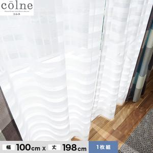 ウォッシャブル&天然素材のナチュラルな風合いが魅力! スミノエ 既製カーテン(レース) colne(コルネ) クーシュ 幅100×丈198cm G1028(NW)