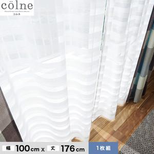 ウォッシャブル&天然素材のナチュラルな風合いが魅力! スミノエ 既製カーテン(レース) colne(コルネ) クーシュ 幅100×丈176cm G1028(NW)