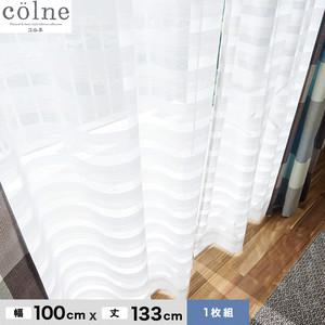 ウォッシャブル&天然素材のナチュラルな風合いが魅力! スミノエ 既製カーテン(レース) colne(コルネ) クーシュ 幅100×丈133cm G1028(NW)