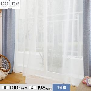 ウォッシャブル&天然素材のナチュラルな風合いが魅力! スミノエ 既製カーテン(レース) colne(コルネ) エール 幅100×丈198cm G1031(NW)