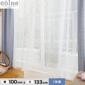 ウォッシャブル&天然素材のナチュラルな風合いが魅力! スミノエ 既製カーテン(レース) colne(コルネ) エール 幅100×丈133cm G1031(NW)