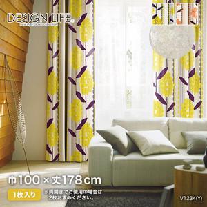 カーテン 既製サイズ スミノエ DESIGNLIFE KEIRANSASU(ケイランサス) 巾100×丈178cm