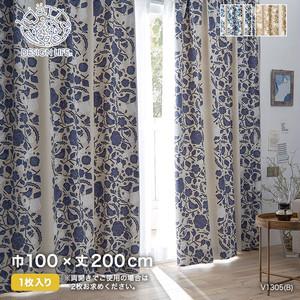 カーテン 既製サイズ スミノエ DESIGNLIFE hjarta CUCO(クコ) 巾100×丈200cm