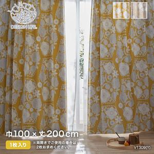 カーテン 既製サイズ スミノエ DESIGNLIFE hjarta IHANA(イハナ) 巾100×丈200cm