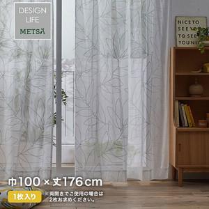 カーテン 既製サイズ スミノエ DESIGNLIFE METSA LINJA VOILE(リーニャボイル) 巾100×丈176cm