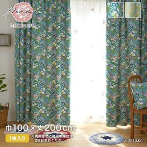 カーテン 既製サイズ スミノエ DESIGNLIFE floride OHANA BATAKE(オハナバタケ) 巾100×丈200cm