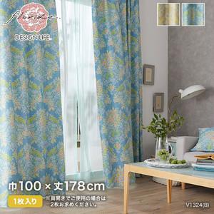 カーテン 既製サイズ スミノエ DESIGNLIFE floride MIX BOUQUET(ミックスブーケ) 巾100×丈178cm