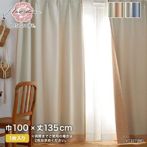 カーテン 既製サイズ スミノエ DESIGNLIFE BACK PRINT CURTAIN CHILALA(チララ) 巾100×丈135cm