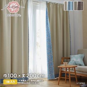 カーテン 既製サイズ スミノエ DESIGNLIFE BACK PRINT CURTAIN SIFFLET(シフレ) 巾100×丈200cm