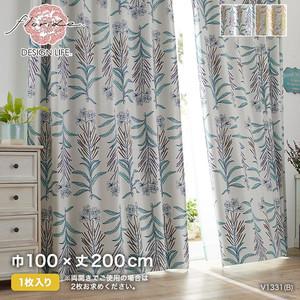 カーテン 既製サイズ スミノエ DESIGNLIFE floride GLASSE(グラッセ) 巾100×丈200cm