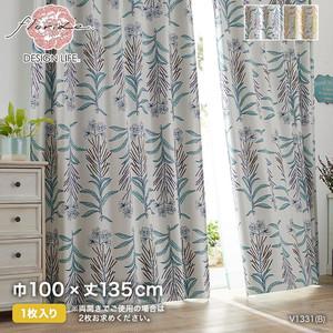 カーテン 既製サイズ スミノエ DESIGNLIFE floride GLASSE(グラッセ) 巾100×丈135cm