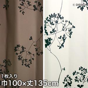ディズニーファン必見!スミノエ Disney 既製カーテン MICKEY/ Twig leaf(トゥイッグリーフ) 巾100×丈135cm