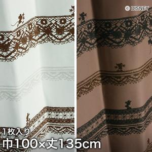 ディズニーファン必見!スミノエ Disney 既製カーテン MICKEY/ Trim way(トリムウェイ) 巾100×丈135cm