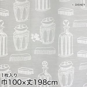 ディズニーファン必見!スミノエ Disney レースカーテン MICKEY/ Charming bottle(チャーミングボトル) 巾100×丈198cm