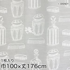 ディズニーファン必見!スミノエ Disney レースカーテン MICKEY/ Charming bottle(チャーミングボトル) 巾100×丈176cm