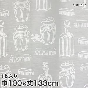 ディズニーファン必見!スミノエ Disney レースカーテン MICKEY/ Charming bottle(チャーミングボトル) 巾100×丈133cm