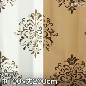 ディズニーファン必見!スミノエ Disney 既製カーテン MICKEY/ Crest(クレスト) 巾100×丈200cm