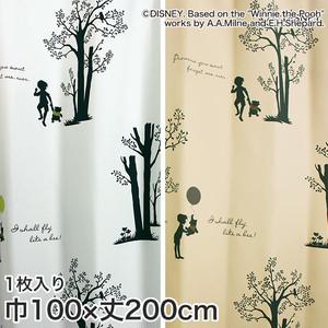ディズニーファン必見!スミノエ Disney 既製カーテン POOH/ Shiny park(シャイニーパーク) 巾100×丈200cm