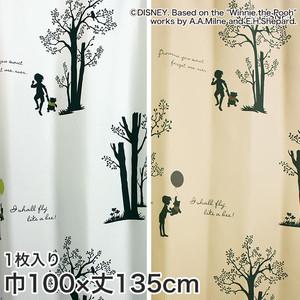 ディズニーファン必見!スミノエ Disney 既製カーテン POOH/ Shiny park(シャイニーパーク) 巾100×丈135cm
