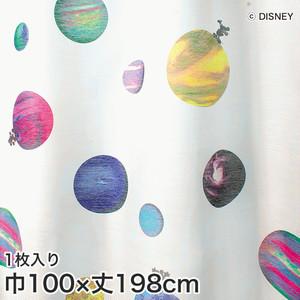 ディズニーファン必見!スミノエ Disney レースカーテン MICKEY/ Cosmo(コスモ) 巾100×丈198cm