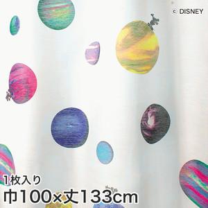 ディズニーファン必見!スミノエ Disney レースカーテン MICKEY/ Cosmo(コスモ) 巾100×丈133cm