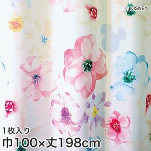 ディズニーファン必見!スミノエ Disney レースカーテン MICKEY/ Aroma(アロマ) 巾100×丈198cm