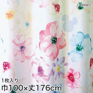 ディズニーファン必見!スミノエ Disney レースカーテン MICKEY/ Aroma(アロマ) 巾100×丈176cm