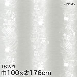 ディズニーファン必見!スミノエ Disney レースカーテン ALICE/ Tea cup(ティーカップ) 巾100×丈176cm