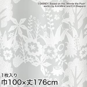 ディズニーファン必見!スミノエ Disney レースカーテン POOH/ In the wood(インザウッド) 巾100×丈176cm