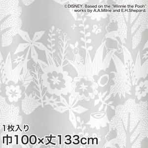 ディズニーファン必見!スミノエ Disney レースカーテン POOH/ In the wood(インザウッド) 巾100×丈133cm