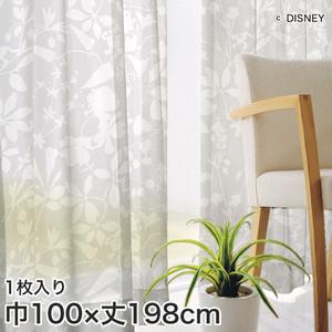 ディズニーファン必見!スミノエ Disney レースカーテン MICKEY/ Carnival voil(カーニバルボイル) 巾100×丈198cm
