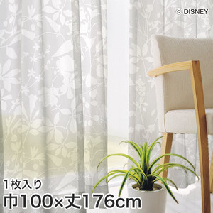 ディズニーファン必見!スミノエ Disney レースカーテン MICKEY/ Carnival voil(カーニバルボイル) 巾100×丈176cm