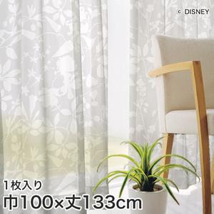 ディズニーファン必見!スミノエ Disney レースカーテン MICKEY/ Carnival voil(カーニバルボイル) 巾100×丈133cm