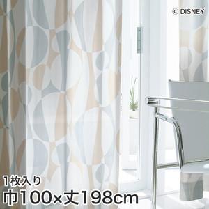 ディズニーファン必見!スミノエ Disney レースカーテン MICKEY/ Silhouete wave(シルエットウェーブ) 巾100×丈198cm