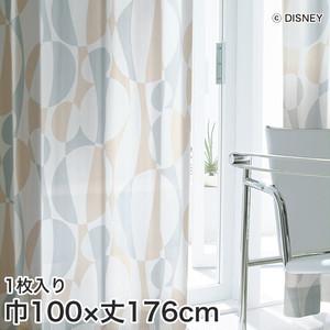 ディズニーファン必見!スミノエ Disney レースカーテン MICKEY/ Silhouete wave(シルエットウェーブ) 巾100×丈176cm