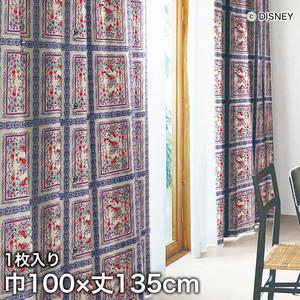 ディズニーファン必見!スミノエ Disney 既製カーテン MICKEY/ Royal garden(ロイヤルガーデン) 巾100×丈135cm