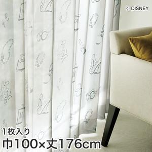 ディズニーファン必見!スミノエ Disney レースカーテン MICKEY/ Accessory(アクセサリー) 巾100×丈176cm