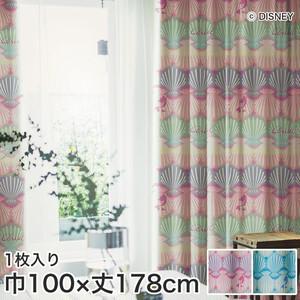 ディズニーファン必見!スミノエ Disney 既製カーテン PRINCESS/ Shell(シェル) 巾100×丈178cm