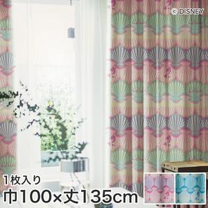 ディズニーファン必見!スミノエ Disney 既製カーテン PRINCESS/ Shell(シェル) 巾100×丈135cm