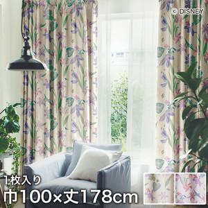 ディズニーファン必見!スミノエ Disney 既製カーテン PRINCESS/ Tropical(トロピカル) 巾100×丈178cm