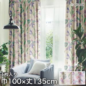 ディズニーファン必見!スミノエ Disney 既製カーテン PRINCESS/ Tropical(トロピカル) 巾100×丈135cm