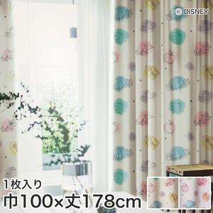 ディズニーファン必見!スミノエ Disney 既製カーテン PRINCESS/ Princess charm(プリンセスチャーム) 巾100×丈178cm