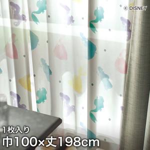ディズニーファン必見!スミノエ Disney レースカーテン PRINCESS/ Princess(プリンセス) 巾100×丈198cm