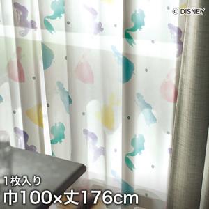 ディズニーファン必見!スミノエ Disney レースカーテン PRINCESS/ Princess(プリンセス) 巾100×丈176cm
